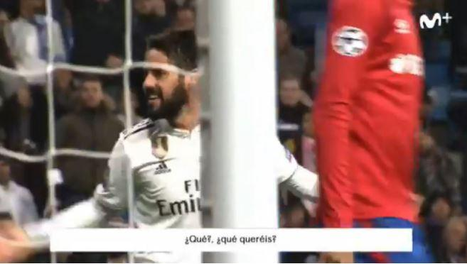 Isco called the Bernabeu crowd 'son's of bitches'