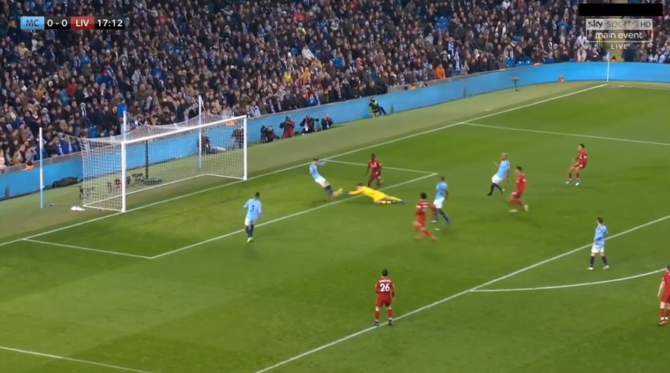 In some heroic attempts to clear their lines, both John Stones and Ederson pounced on the loose ball