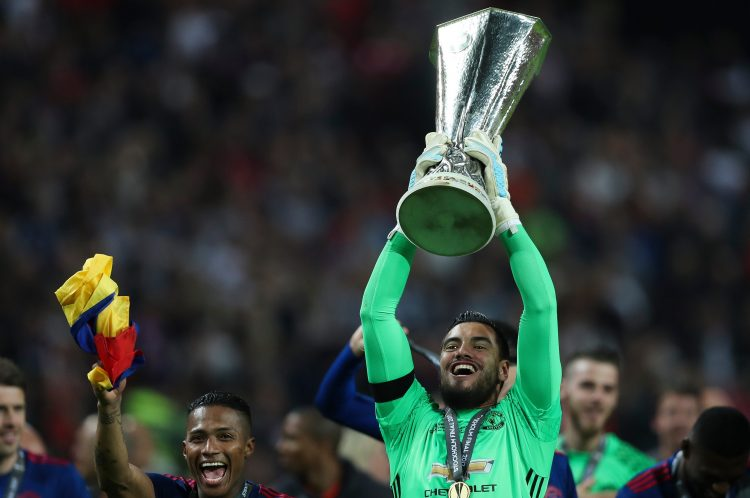 The keeper was a key part of Man United's Europa League win back in 2017