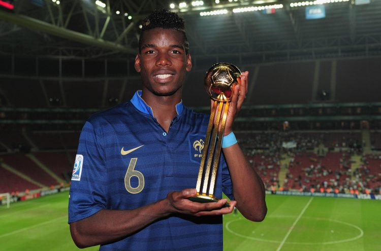 Paul Pogba won the U20 World Cup with France in 2013