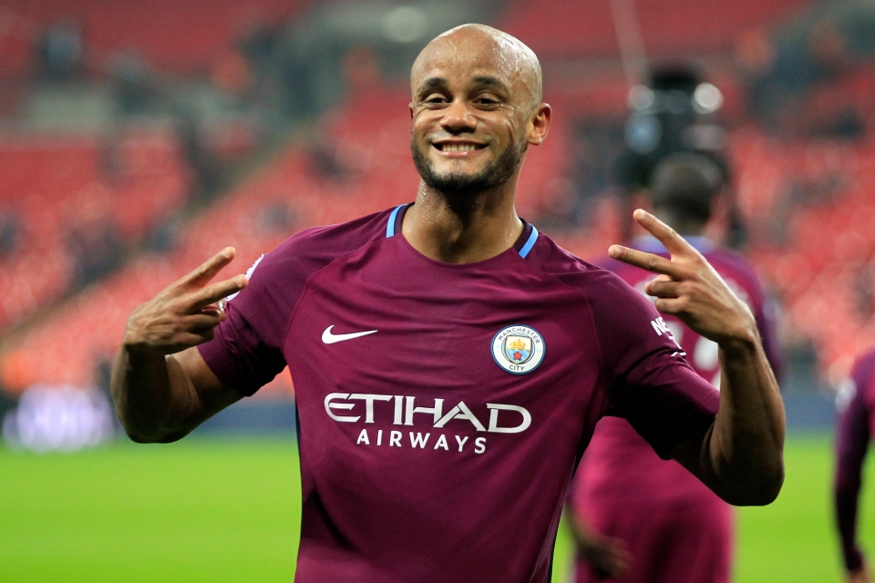 Just a nice photo of Vincent Kompany to bless your day
