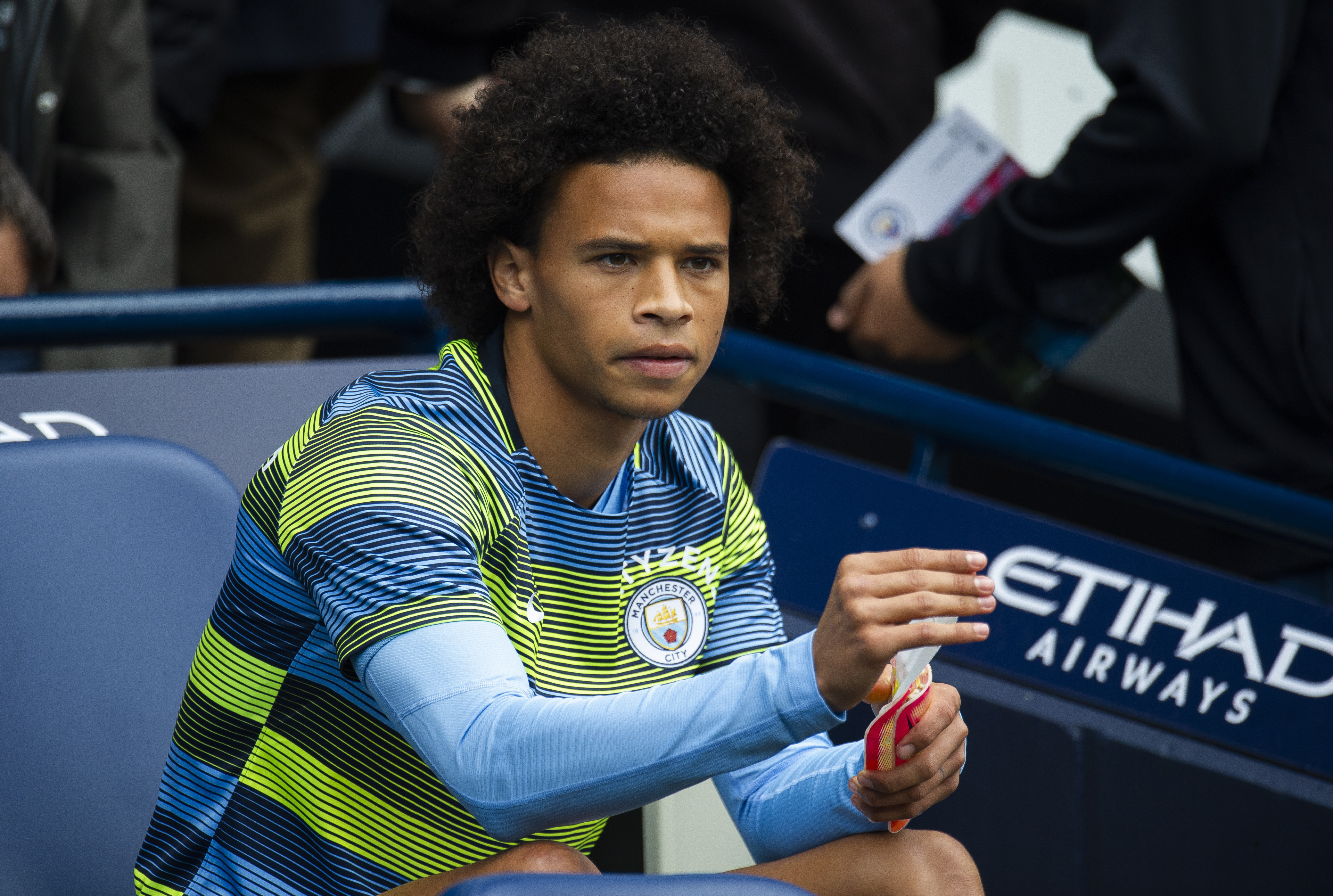 Sane spent the beginning weeks of the new season rooted to City's bench