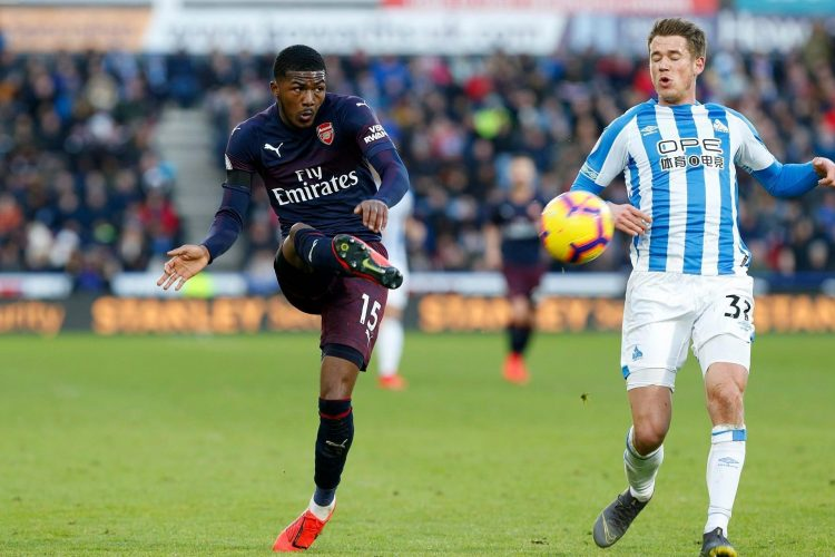 Maitland-Niles in Premier League action for Arsenal