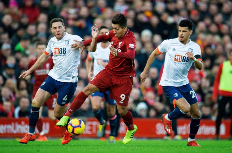Solanke in action against his former club
