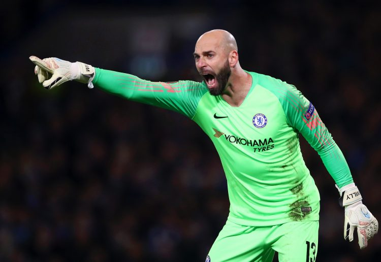 Caballero doing his best Kepa impression