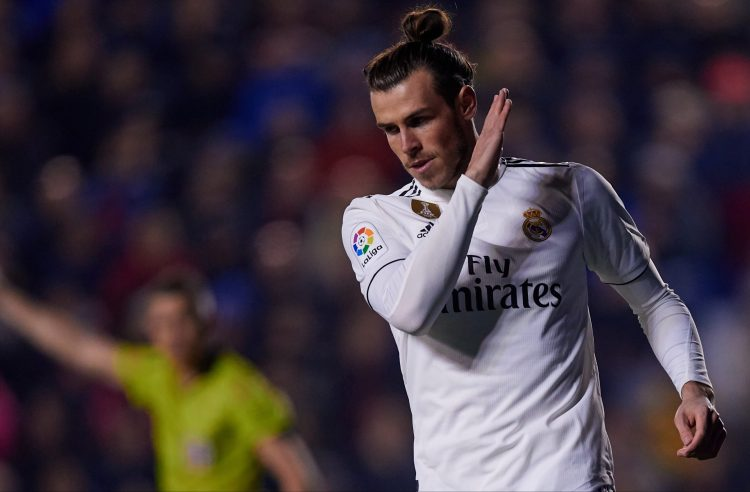 Bale doesn't appear to love his new role in the squad