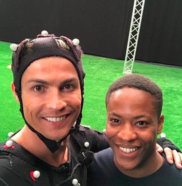 Adetomiwa Edun (Alex Hunter) worked closely with Cristiano Ronaldo