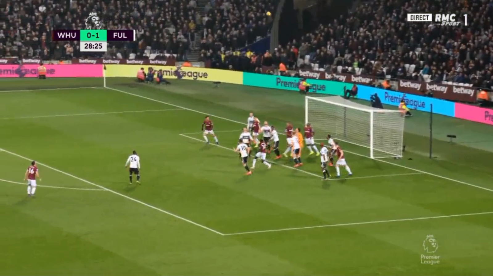 A Robert Snodgrass corner was punched skywards by Sergio Rico and caused absolute mayhem in the box