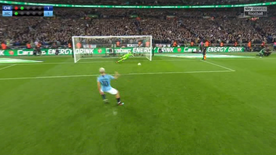 Aguero's shot wasn't particularly powerful
