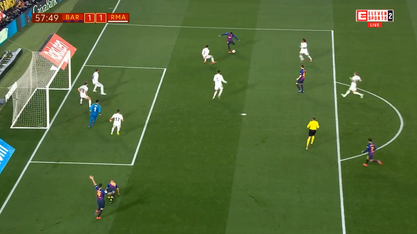 How am I supposed to tell my kids that Malcom scored from here?