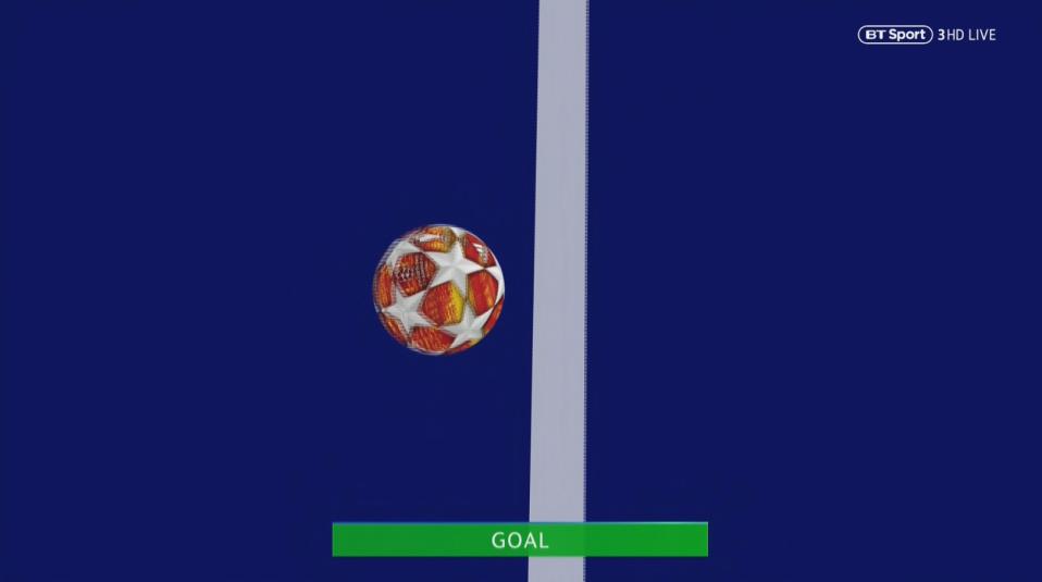 Goal line technology confirmed it