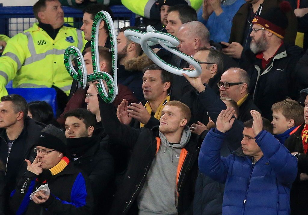 Watford fans vented their frustration towards Silva, who is now of Everton