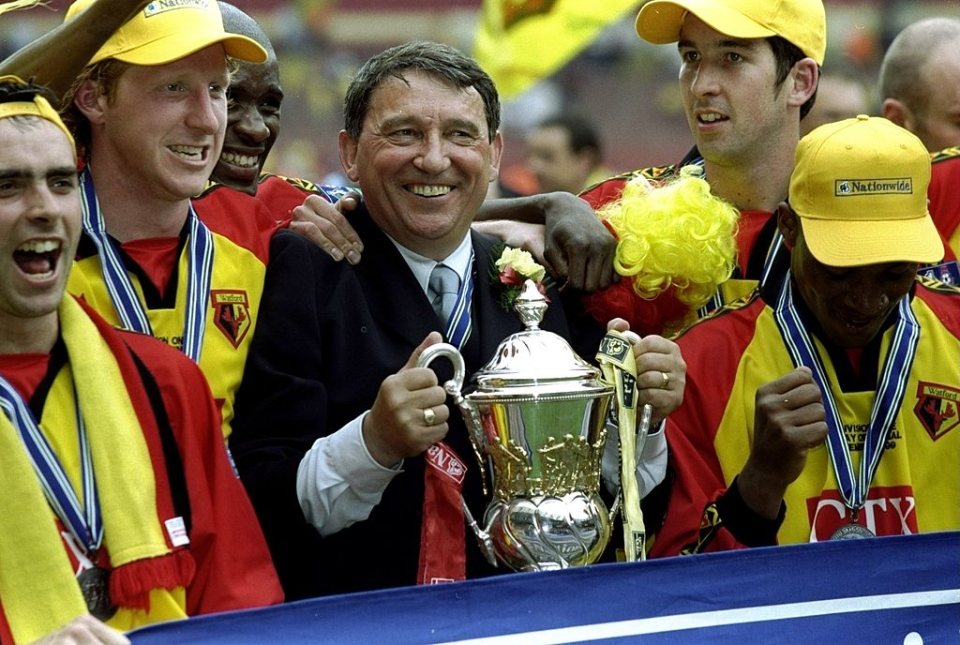 His statue fittingly describes him as Watford's 'greatest ever manager'