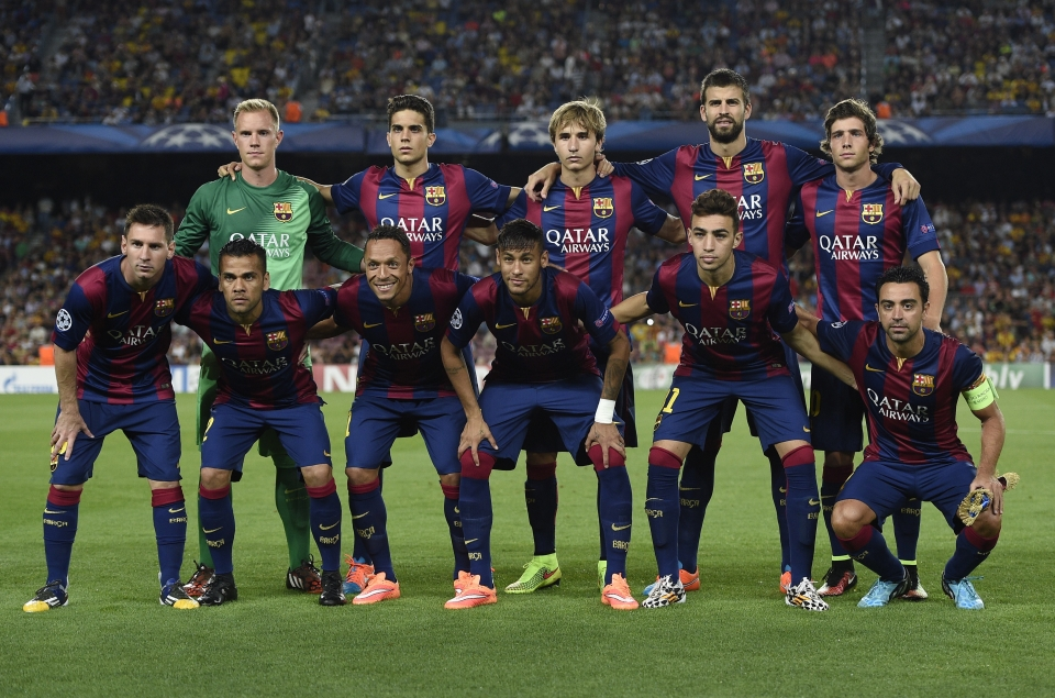A rare outing alongside Lionel Messi and co