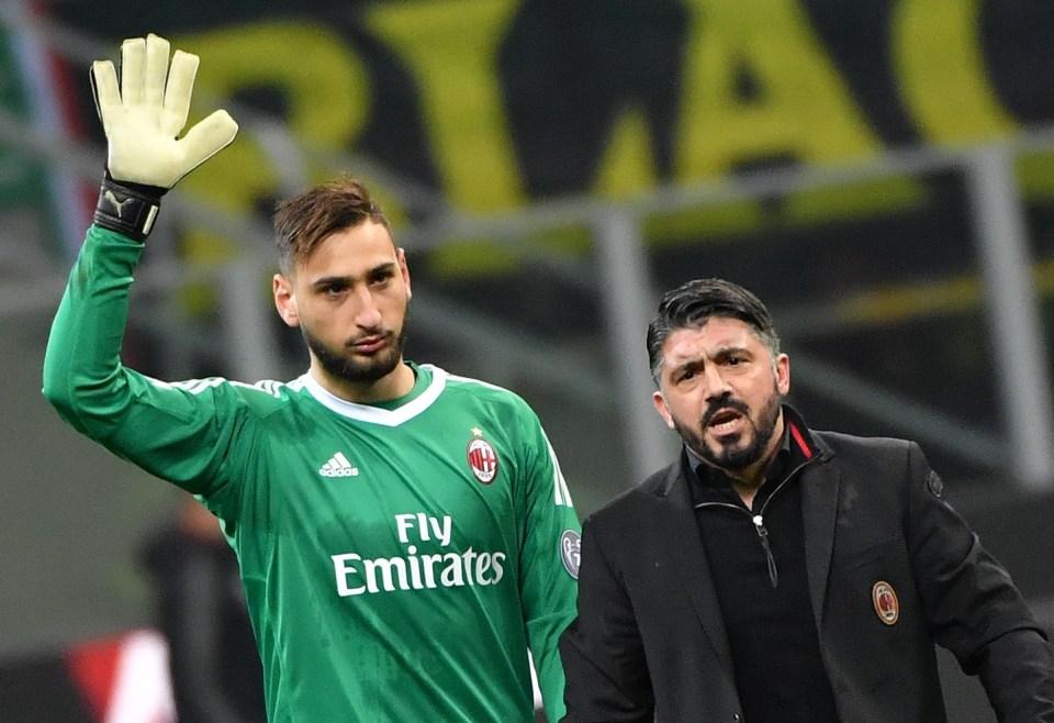 Gattuso has stuck by his goalkeeper