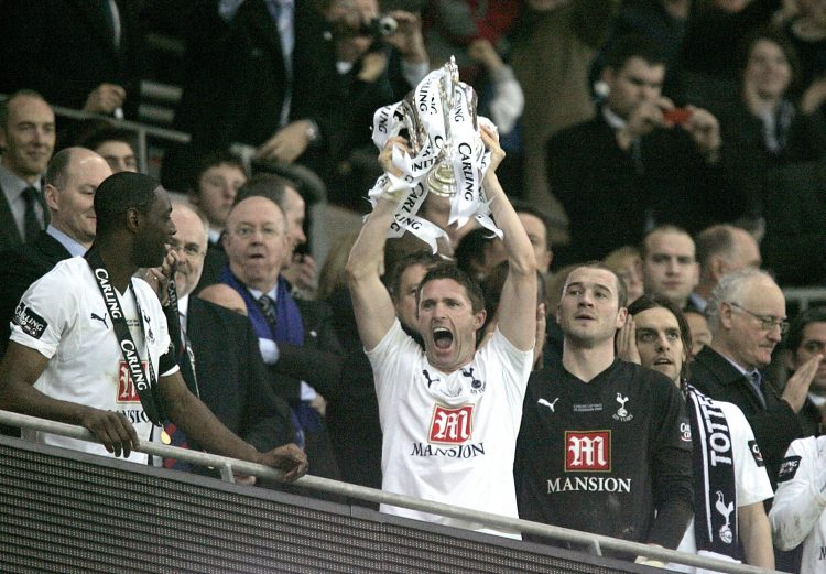 The last Spurs team to win a trophy way back in 2008
