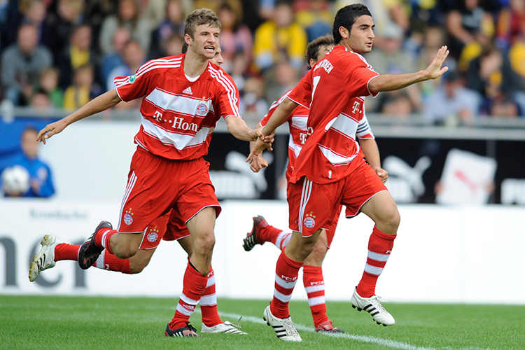 Muller's team-mates took a very literal approach to holding his hand at the start of his career