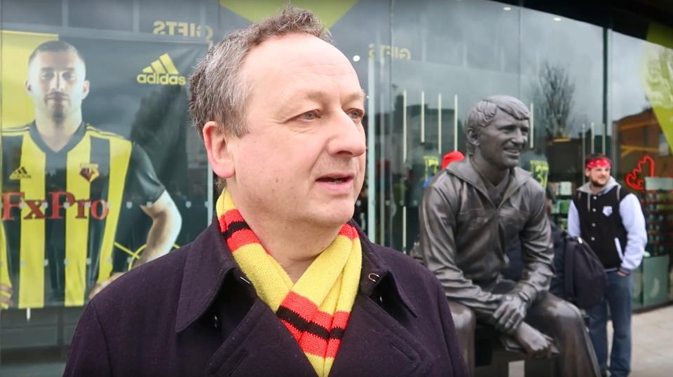 Tim, creator of the Watford Throw In blog
