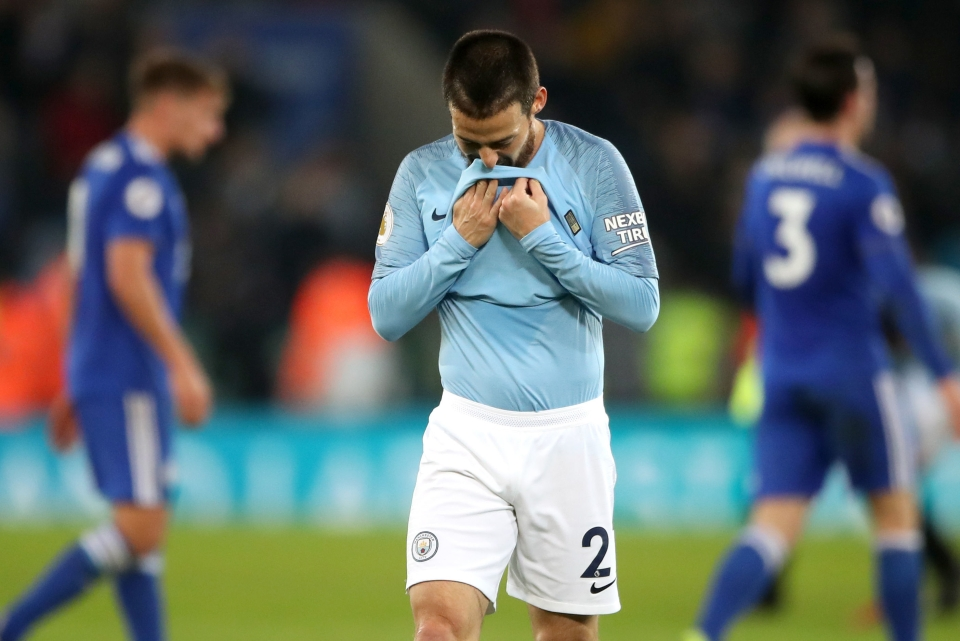 City fell to third-place in the table after losing to Leicester back in December
