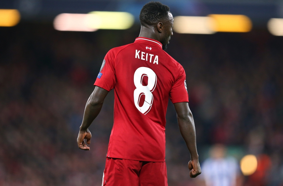 Naby Keita donning the famous number 8 shirt