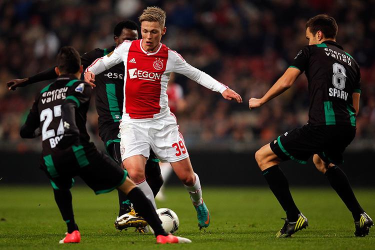 Sparv in action against Ajax