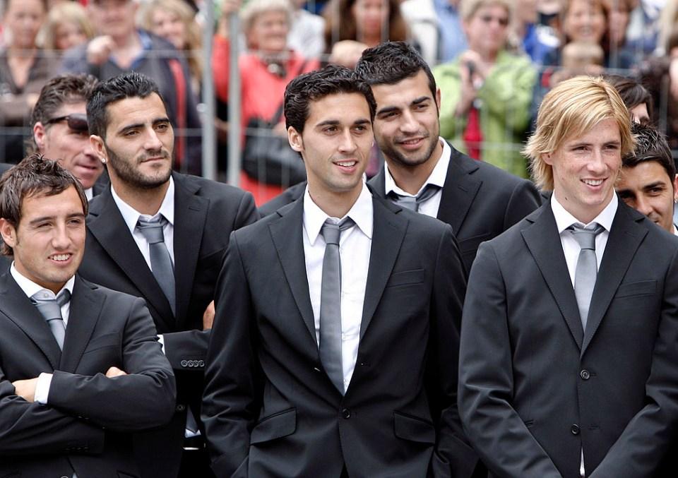 Spain's Euro 2008 squad or failed 00's boy band?
