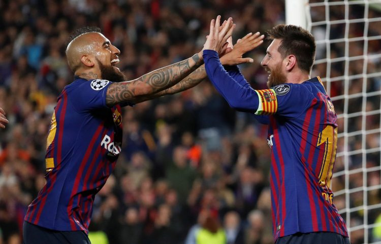 Vidal is almost the complete opposite of Messi on the pitch