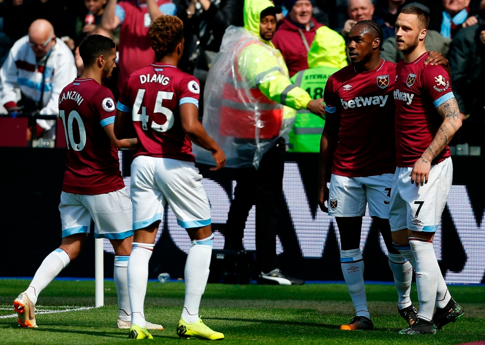 West Ham were 3-0 winners over Southampton earlier in the day