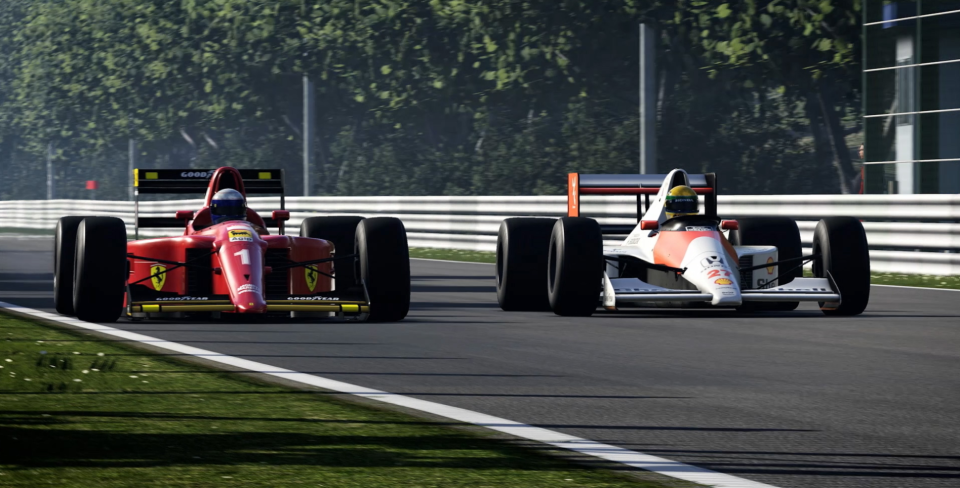 Senna and Prost get behind the wheel again