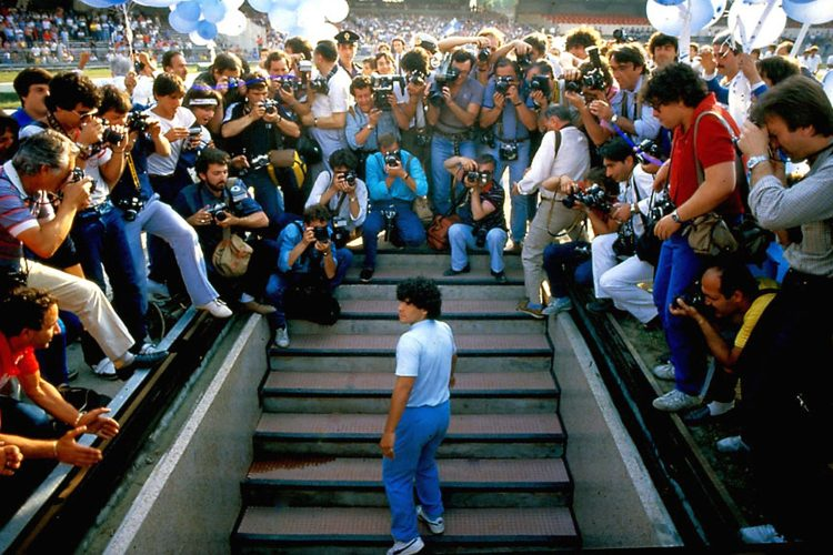 Maradona spent most of his life with this level of attention