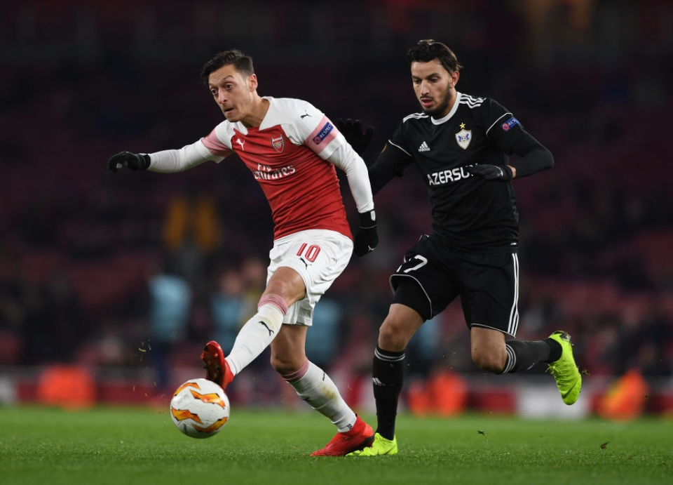 Mesut Ozil featured heavily in routine Europa League ties whereas youngsters watched on from the bench