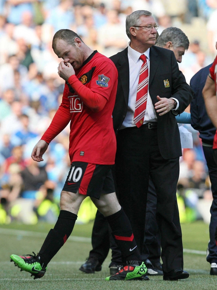 Rooney questioned the club's ambition in 2010