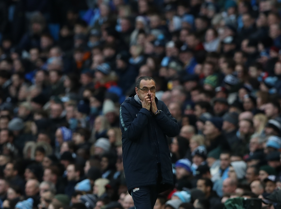 Sarri struggled to sell his style of football to the Chelsea fans