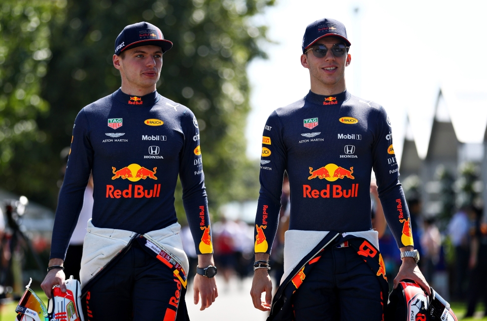 Red Bull's Max Verstappen and Pierre Gasly both started out at Toro Rosso