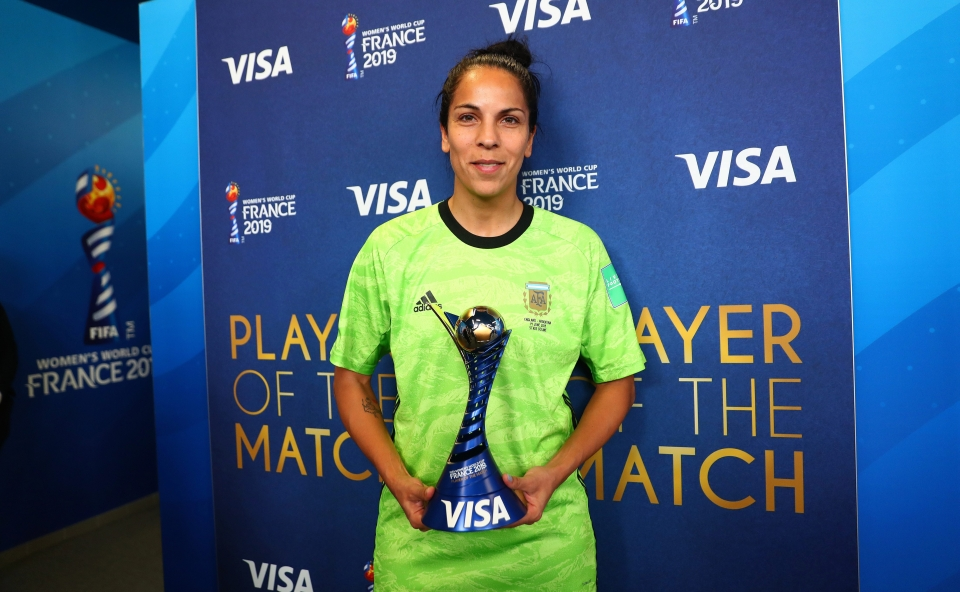 Argentina goalkeeper Vanina Correa was named Player of the Match after her performance against the Lionesses