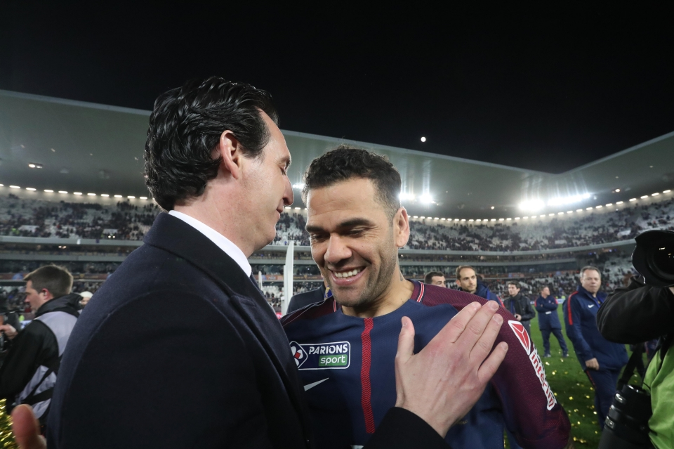 Alves worked under Emery for one season in Paris
