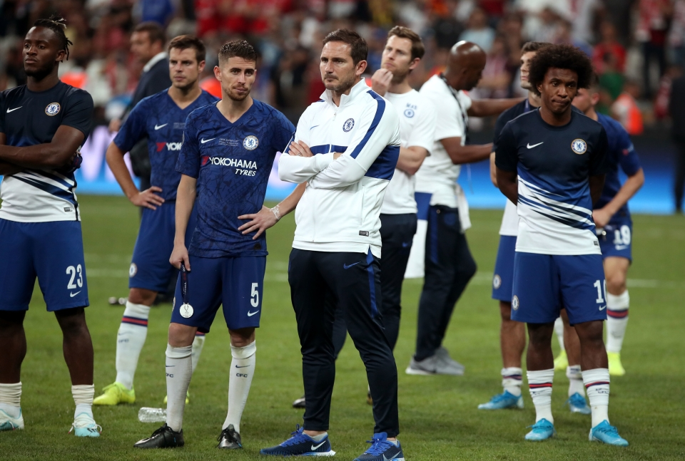 Chelsea's transfer ban over the summer means Lampard was largely left with Sarri's squad