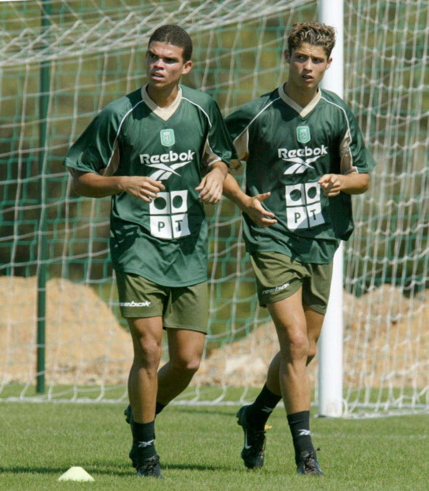 Ronaldo and Pepe at Sporting in 2002