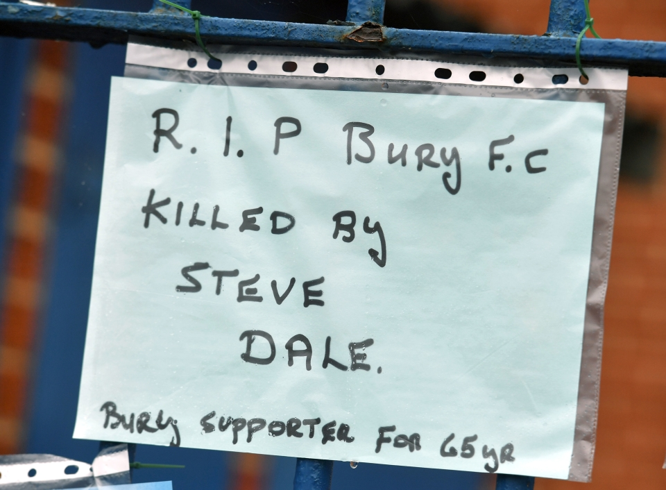 Fans has left messages at Gigg Lane