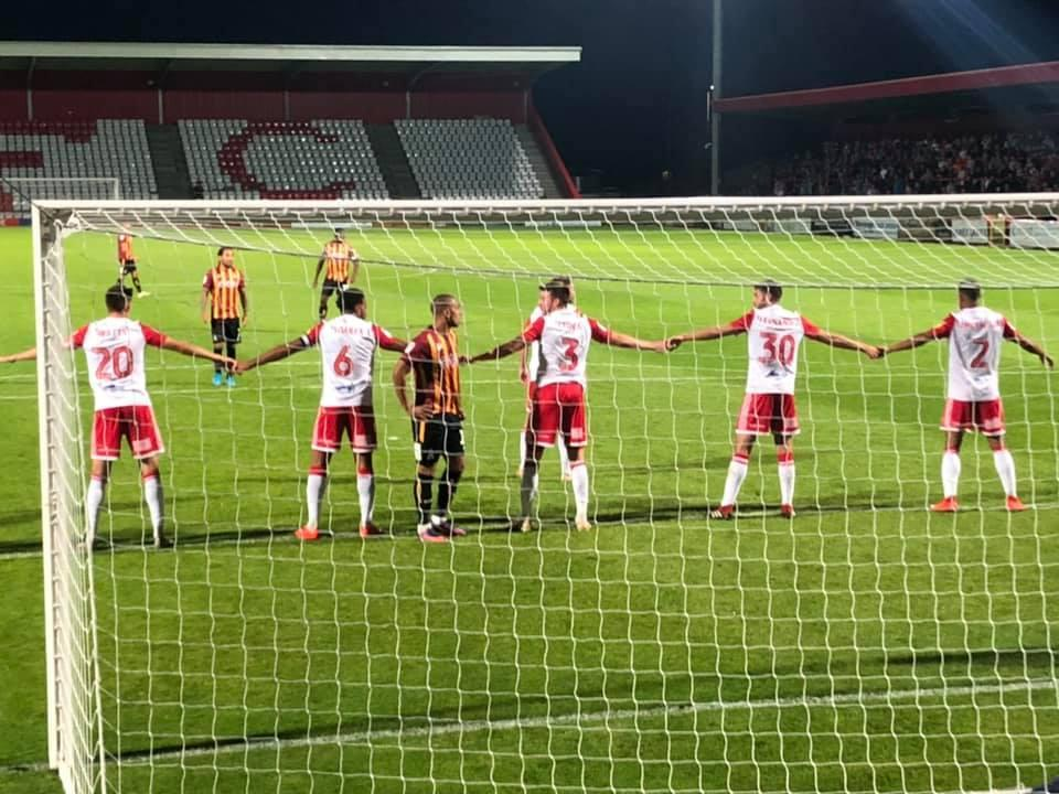 Stevenage's strange 'hand-holding' routine has proven to be an effective way of defending set-pieces