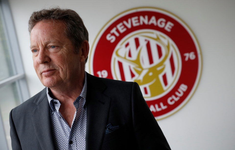 Chairman of Stevenage football club Phil Wallace
