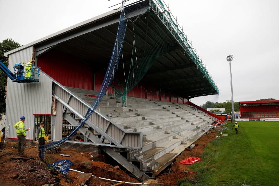 Construction of the new North stand begun in April