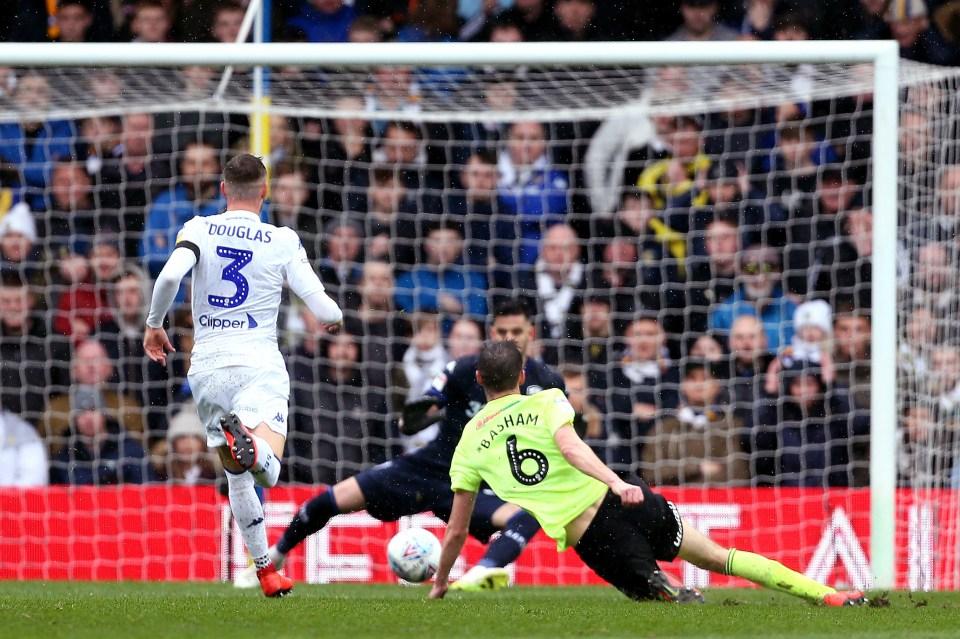 Basham scoring the winner at Leeds last season