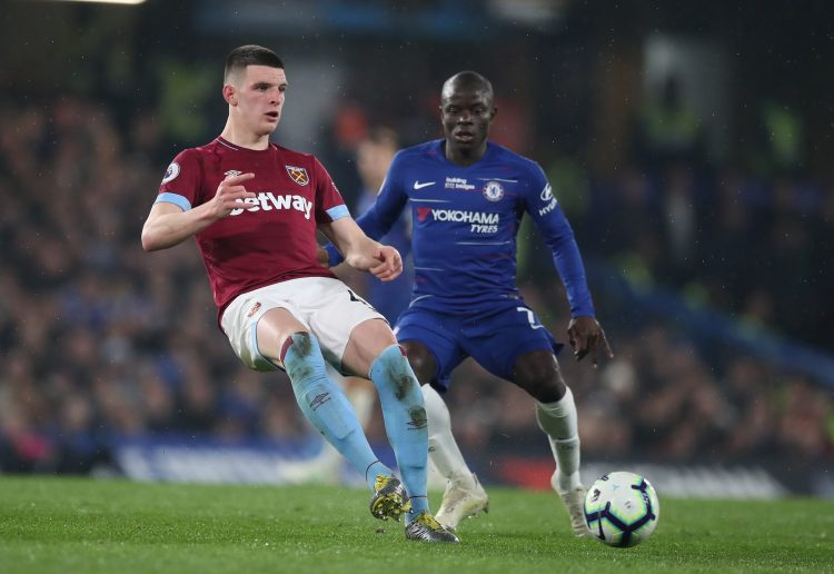 Rice has already played two games at Stamford Bridge fro West Ham