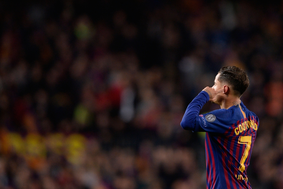 Coutinho fell out with the Barca fans