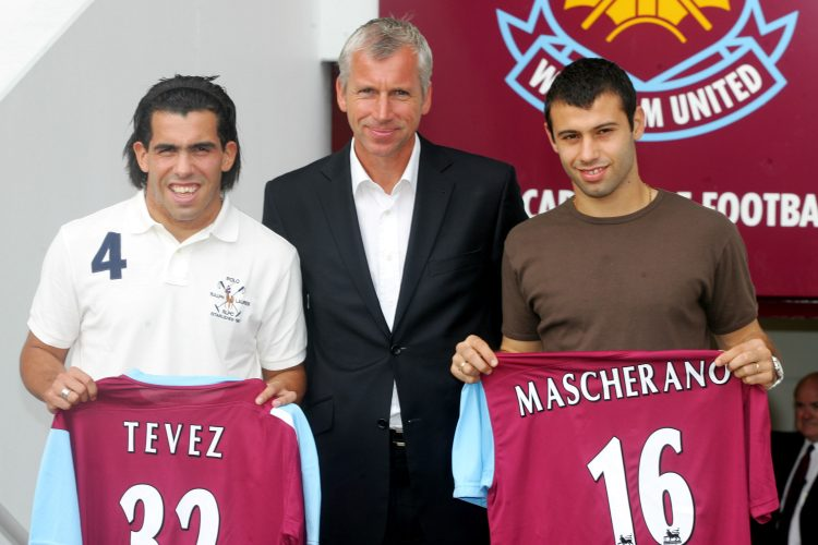 Alan Pardew and a couple of fans