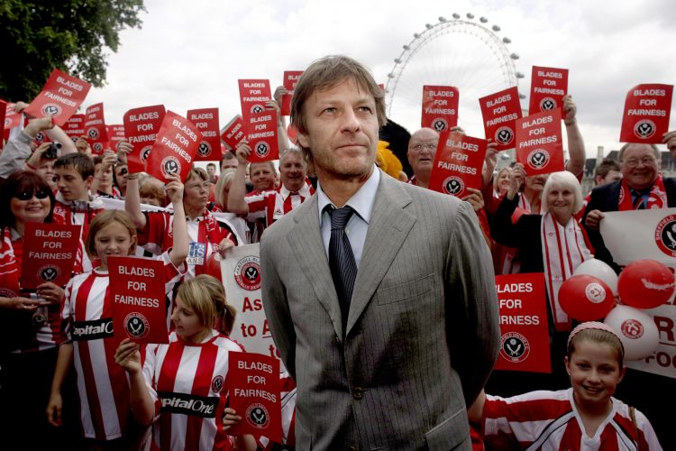 Sean Bean, along with other Blades fans, marched on Westminster to overturn the relegation