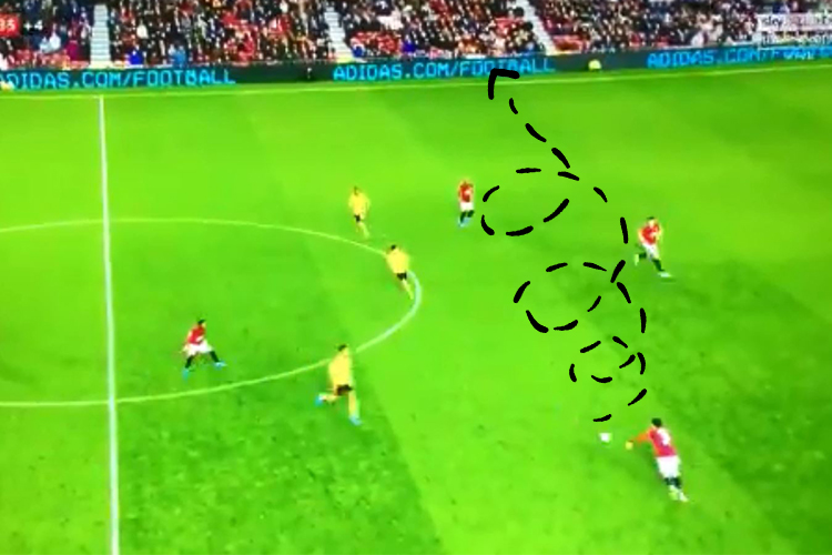 That is the exact path the ball took