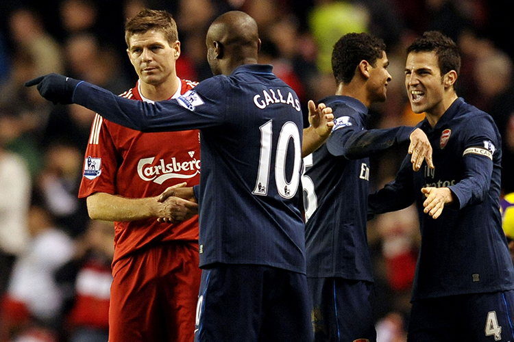 Stevie G is all of us when Gallas decided to take Arsenal's no.10 shirt