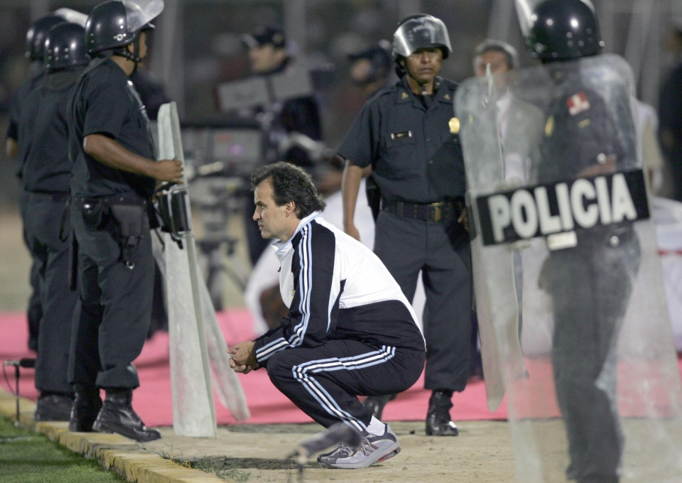 The police are there to stop Bielsa attacking players who don't run enough